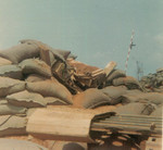 The same bunker after 82mm mortar hit. Both Jim Bury & I were WIA.