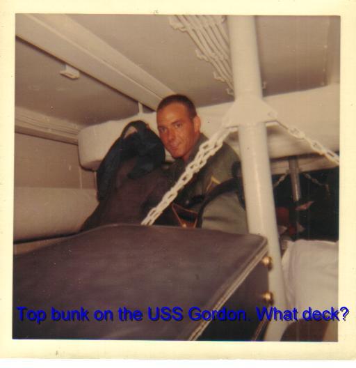 Top bunk USS Gordon (2)