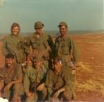 L-r Top ?.Lt Sly[kia may 69] Riveria Bottom l-r Plt sgt Frank Fesi, Verick, John Palmer