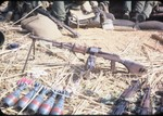 Captured weapons from Hill 1198