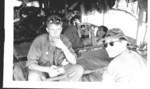 "L-R James Burchette??, Tony LiCausi (in backgrd), ""Doc"" Platoon Medic"