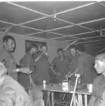D-3-8  67-68 During visit to Camp Enary.  On the left Sfc. Sampie first field and in the middle Lt Osler.