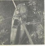 A downed Huey Chopper That Tried To Lift Off To Heavy of a Load
