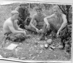 Shaffer,Woods,Routh and Dix.4 of My Best Buddies. Pvt Dix on the far right did not make it home!!