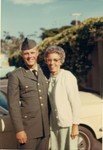 Dad with my grandmother.