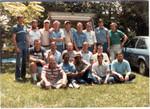 First  Reunion B Co. Back Row L to R, Routh,Poteet,White,Ervin,Teal,Beaver,Orr,Kidd,Callicutt Kneeling,Nagl,Dudley,?,Prince,Rhodes Sitting,Pickett,Steen,Wylie,Talton,Walker