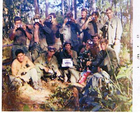 3rd Platoon Christmas Day 1968