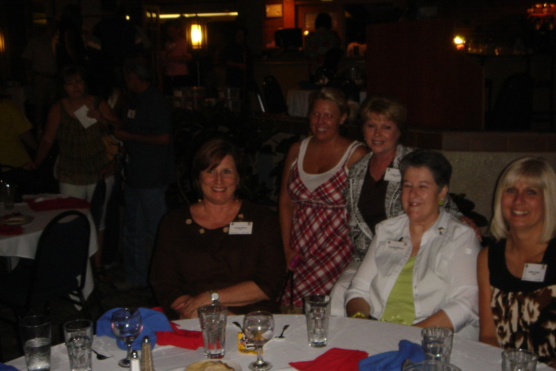 Reunion 2009, Sandra Mims, Jinjer Jackson Larsen, Cathy Jones, Claudia Williams, and Kathy Gwin.