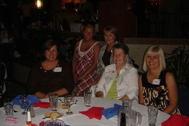 The five wonderfull supporters.... Sandra Mims, Jinjer Jackson Larsen, Cathy Jones, Claudia Williams, and Kathy Gwin, reunion 2009